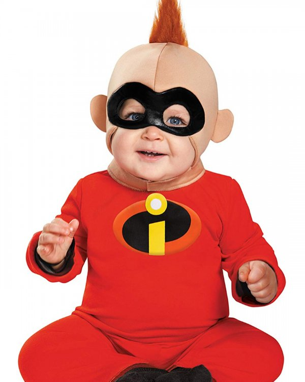 Super hero toddler costume for Halloween.