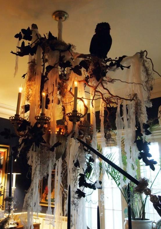Ultimate hanging indoor Halloween decor idea.