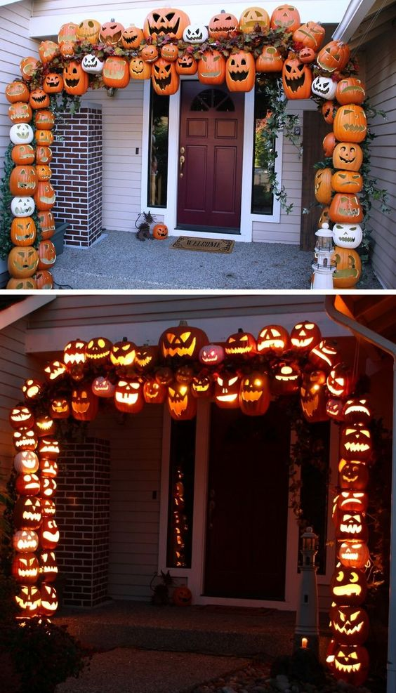 Unique Gateway Pumpkin Decoration for Halloween.