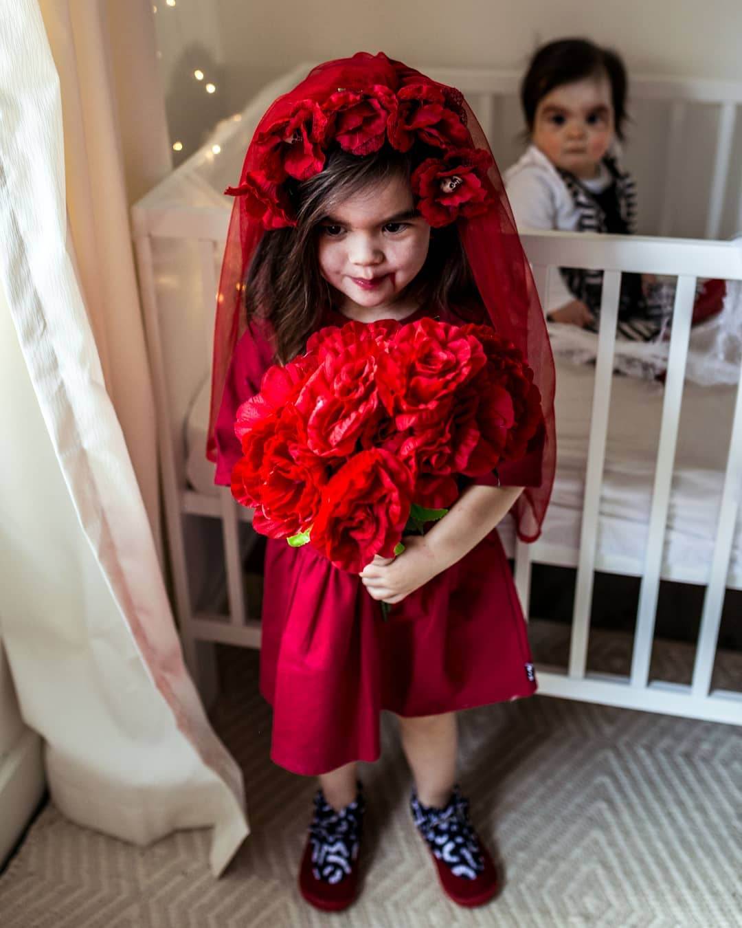 Vampire bride ready for Party.