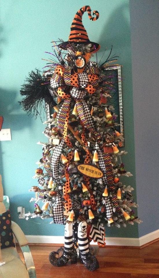 Witch shape Halloween tree.