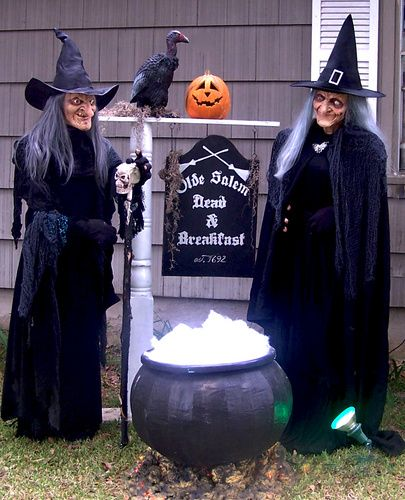 Witches waiting outside.