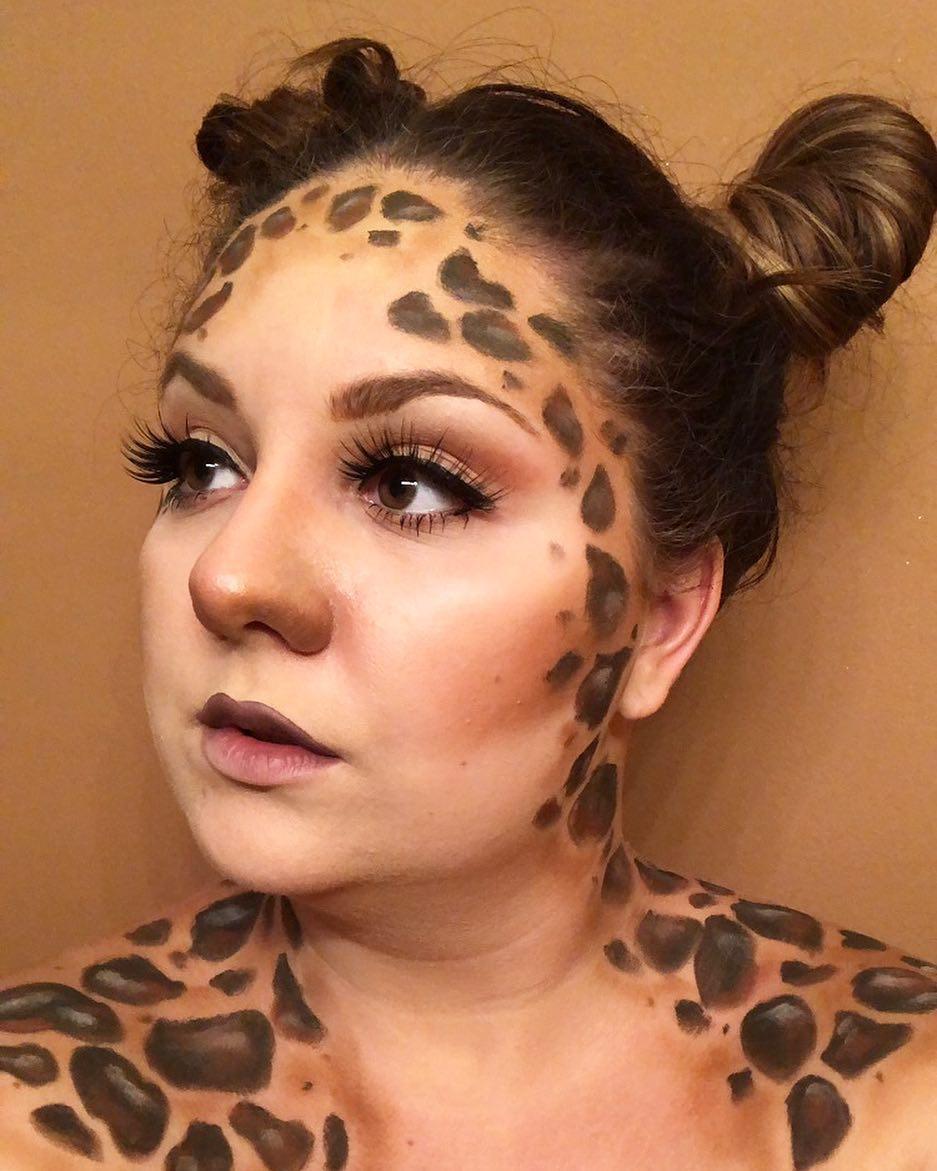 Wonderful spots like giraffe sfx makeup.