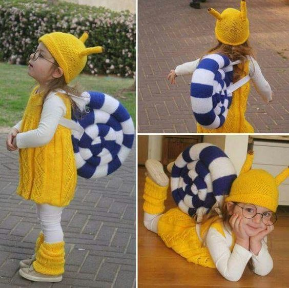 You can make this snail costume easily at home.
