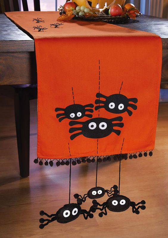 3D crawly spider table runner.