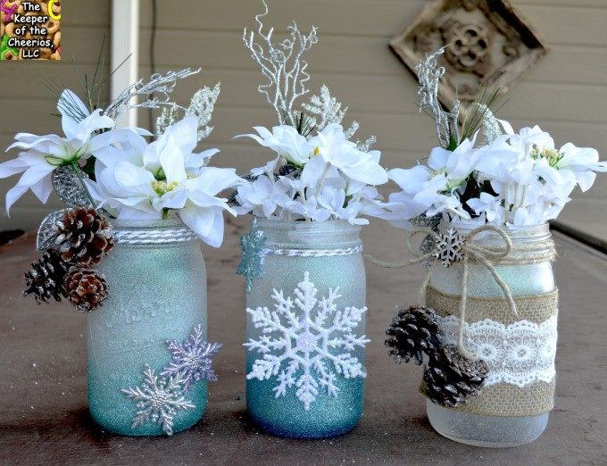 Adorable winter wonderland mason jar.