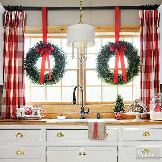 Christmas Curtains For Kitchen Interesting Design