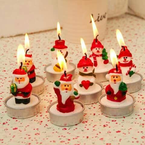 Amazing Santa candles for Christmas.