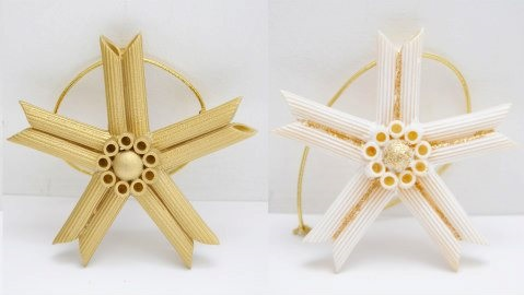 Amazing idea to arrange pasta as star.