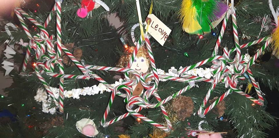 Awesome candy cane star Christmas tree ornament.