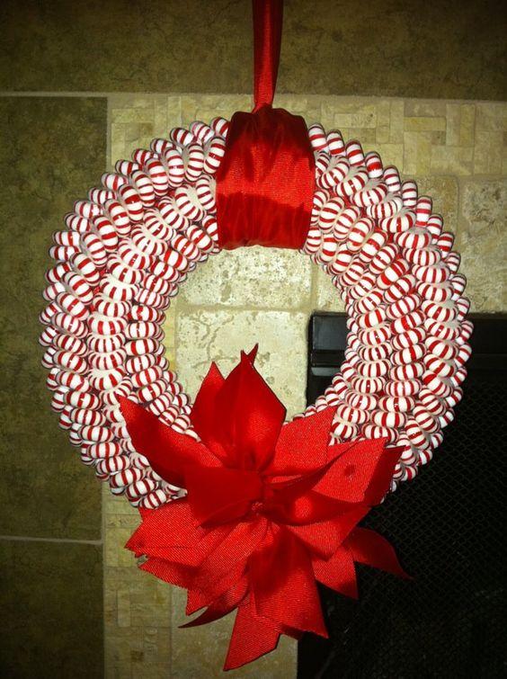 Best peppermint Christmas wreath.
