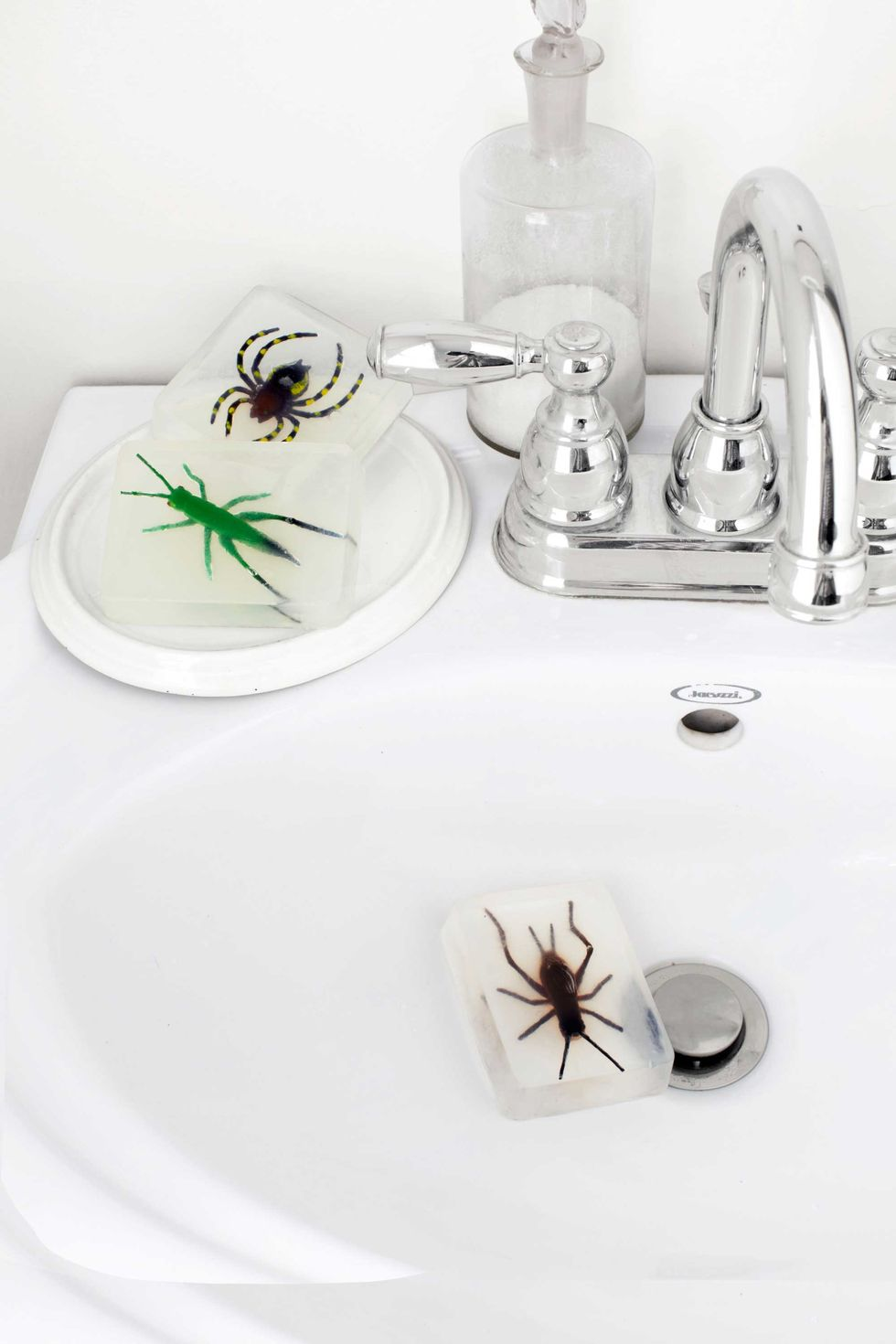 Bug soaps to scare your guests.