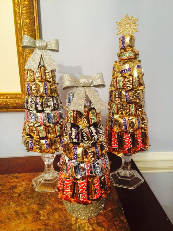 Candy bar Christmas tree for loved ones.