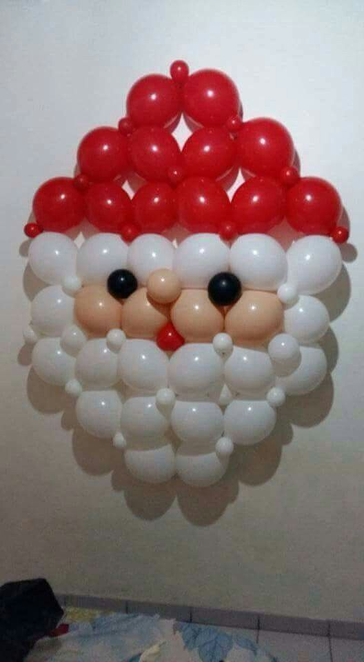 celebrate christmas with this cute balloon santa - Christmas Balloon Decor