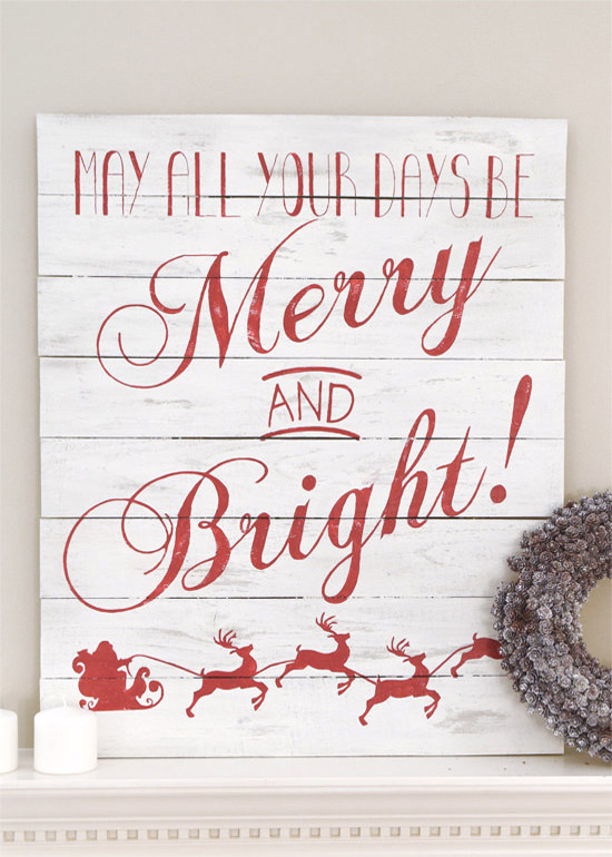 Cheers and bright Christmas sign board.