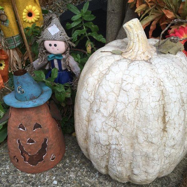 Chic Halloween decor idea.