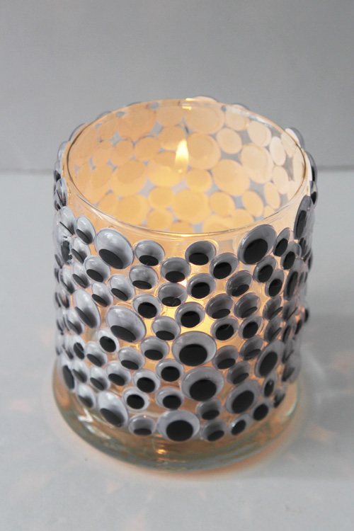Cool googly eye candle holder.