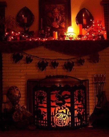 Crazy home decor for Halloween party.