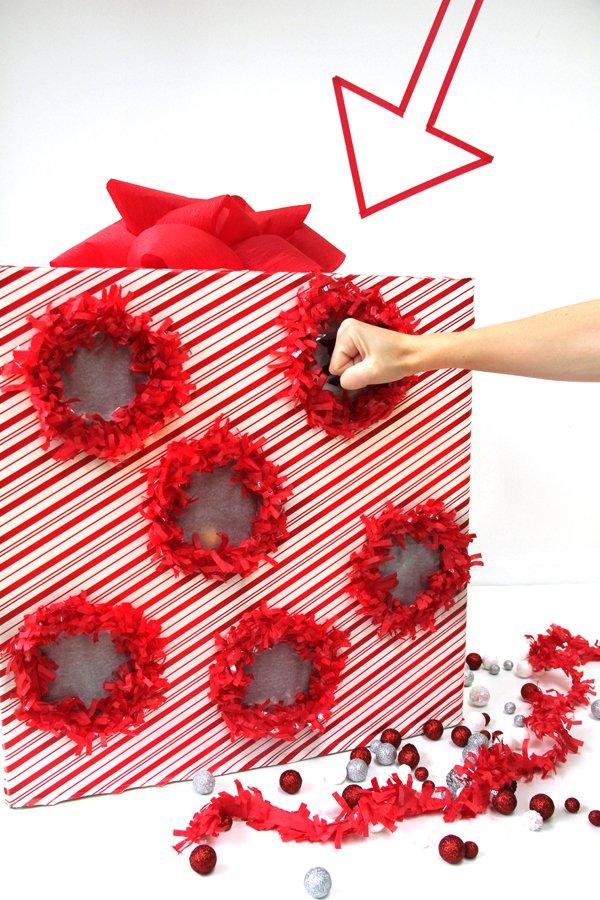 Creative punch box advent calendar.