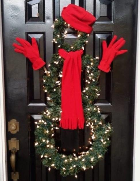 Cute front door Christmas decoration.