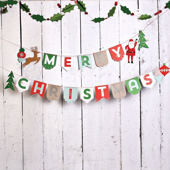 easy diy christmas banner backdrop