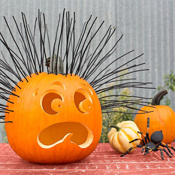 Exhausted pumpkin carving idea for Halloween party.
