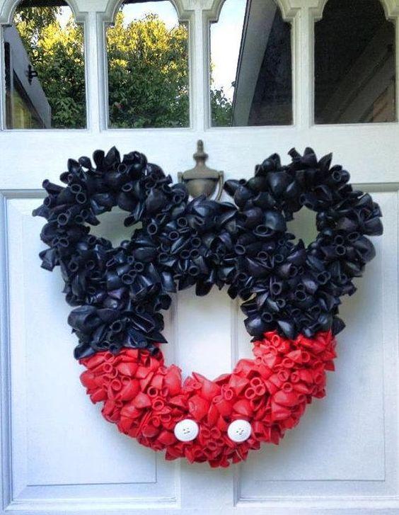 Fabulous mickey mouse front door wreath.