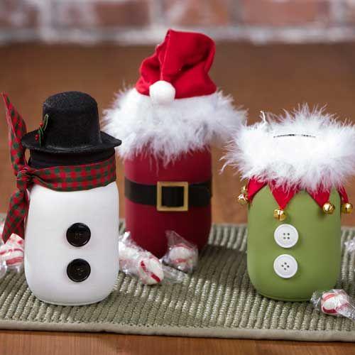 Funny mason jar holiday crafts.