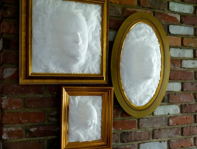 Ghost face picture frame.