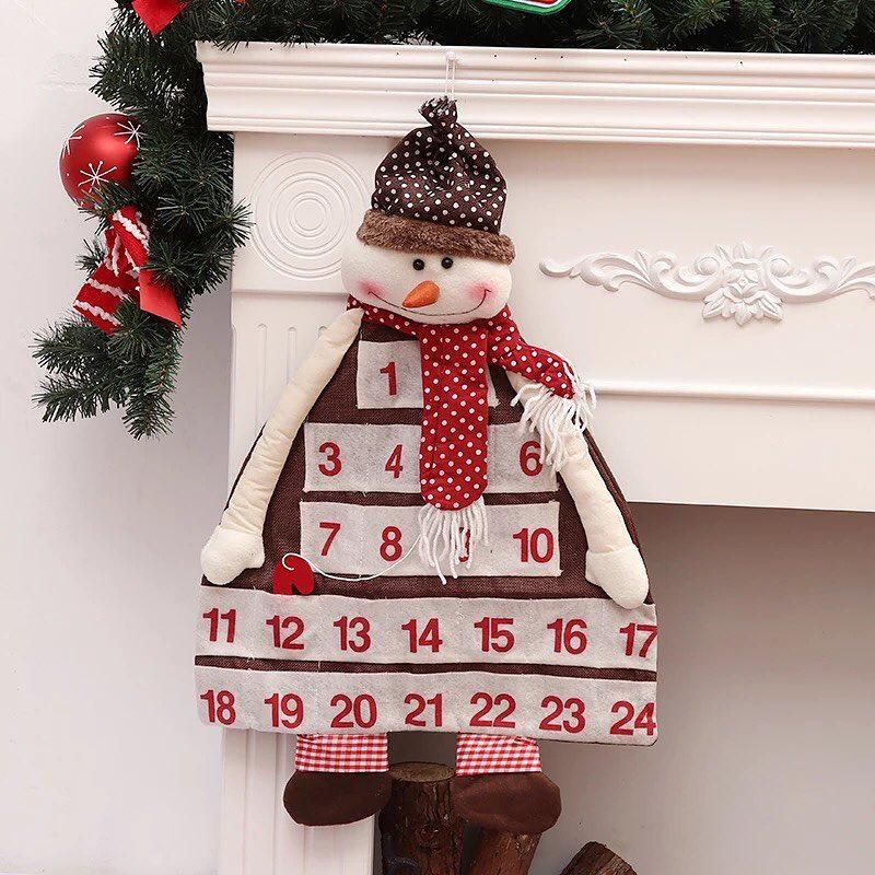 Graceful snowman advent calendar.
