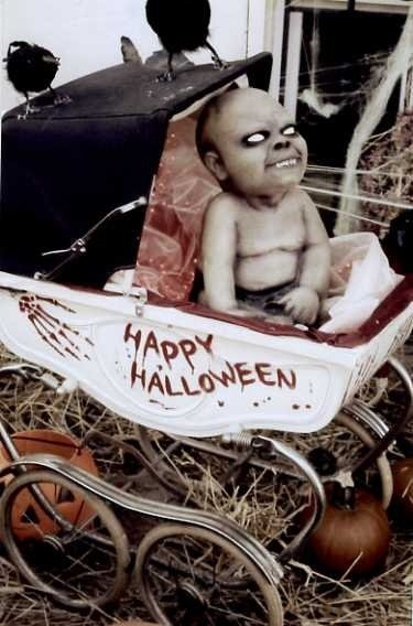 Horror baby waiting for guest.