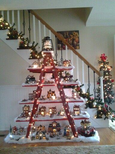 Impressive Christmas village display.