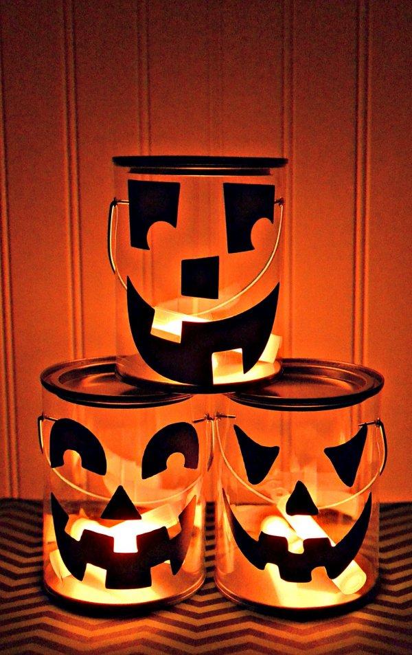 Jack-o-lantern luminary halloween decorations.