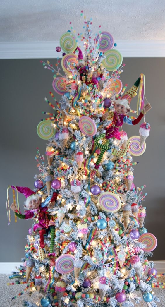 Lovely pink candy land Christmas tree decoration.