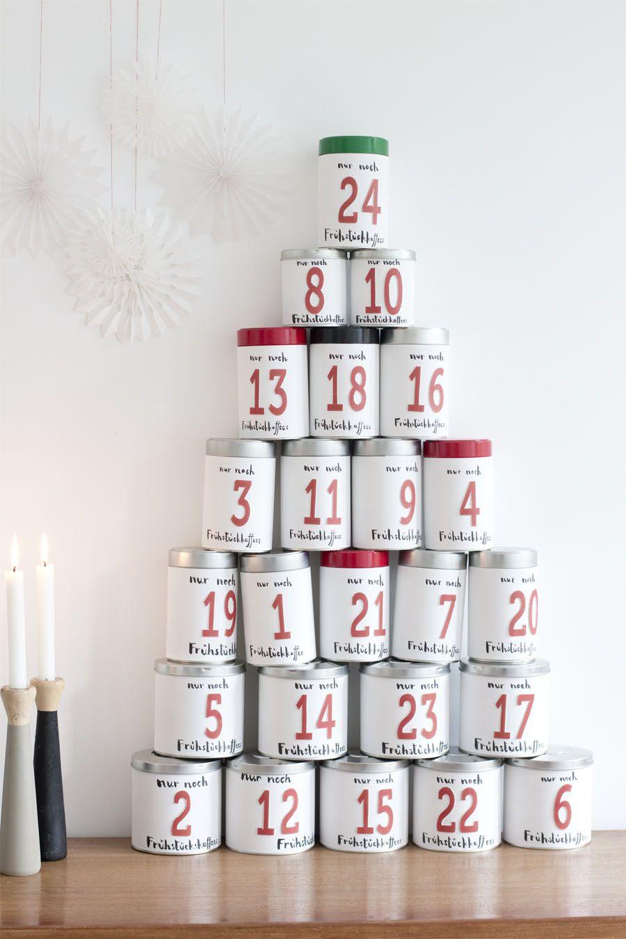 Nice coffee tin advent calendar.
