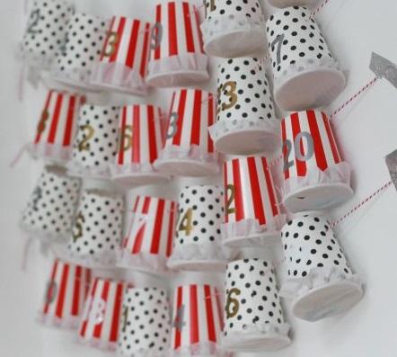 Paper cup garland advent calendar.