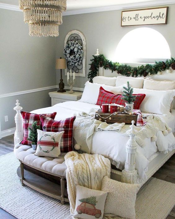 Perfect white and red bedding matching the festive season.