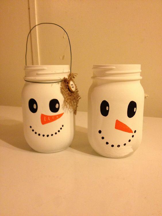 Pretty snowman jars.