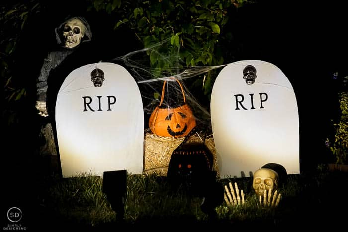 RIP tombstone decoration.