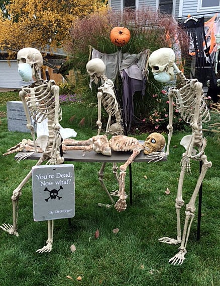 Scariest outdoor decor for Halloween party.