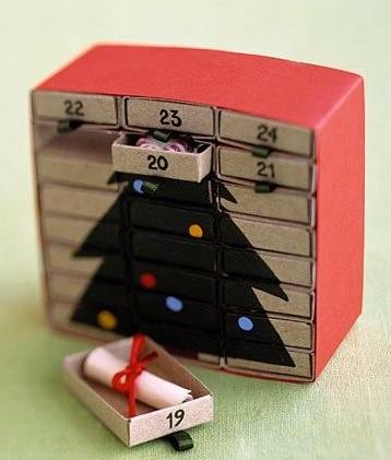 Smart matchbox Christmas advent calendar.