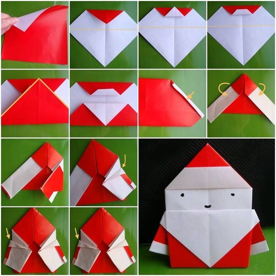 Origami Santa Ornament: 20 DIY Paper Ornaments To Brightened Your Christmas