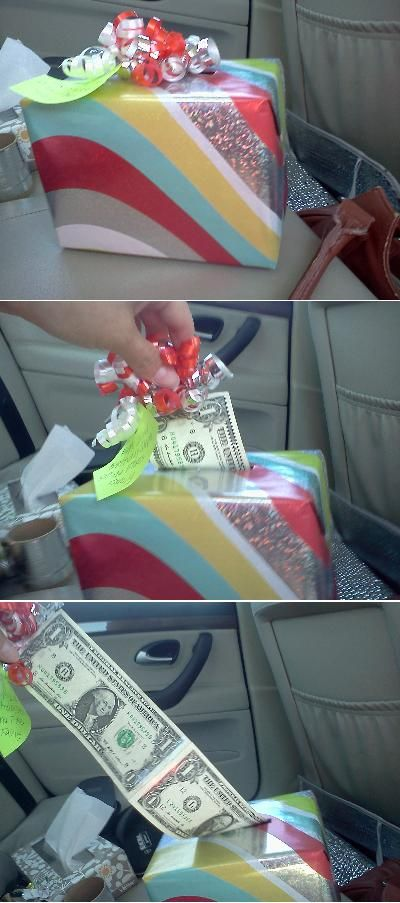 Smart way to give money as a gift.