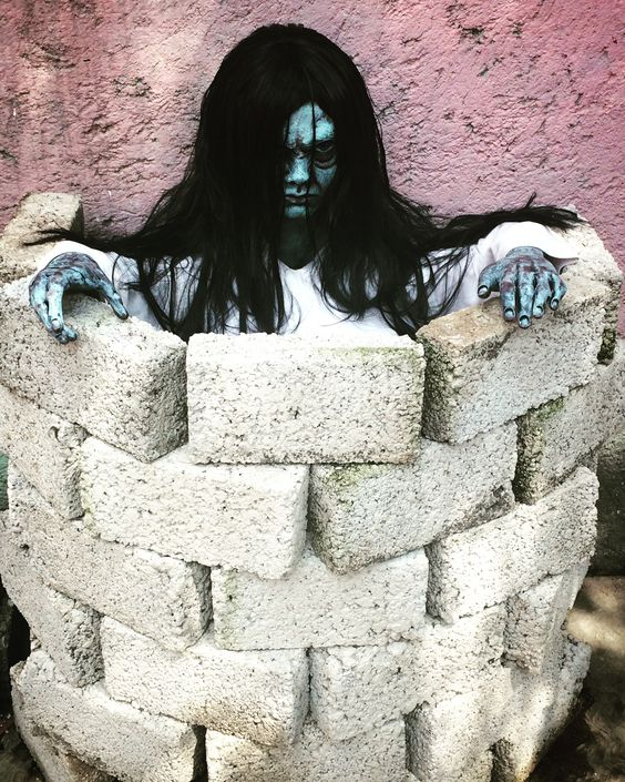 Sprit in well, very scary Halloween decoration inspired by movie The Ring.