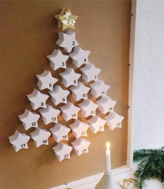 Start the countdown with star christmas tree advent calendar.