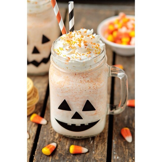 Superb idea to designed glass or mugs for Halloween.