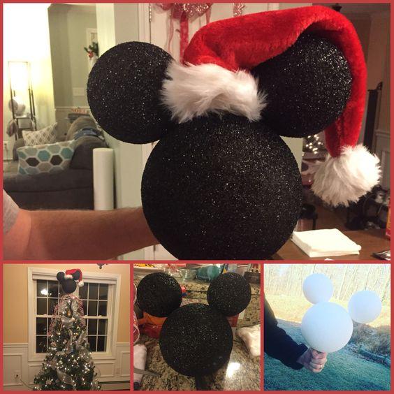 supereb diy styrofoam mickey mouse xmas tree topper - Mickey Mouse Christmas Tree Topper
