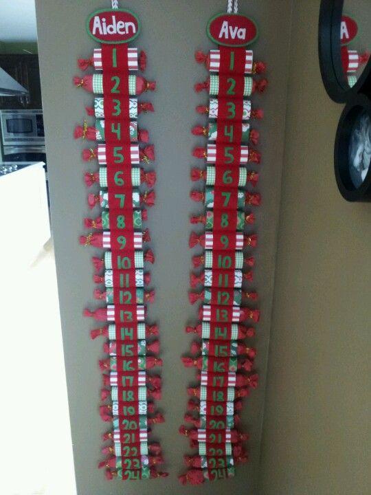 Toilet paper roll advent calendar for kids.
