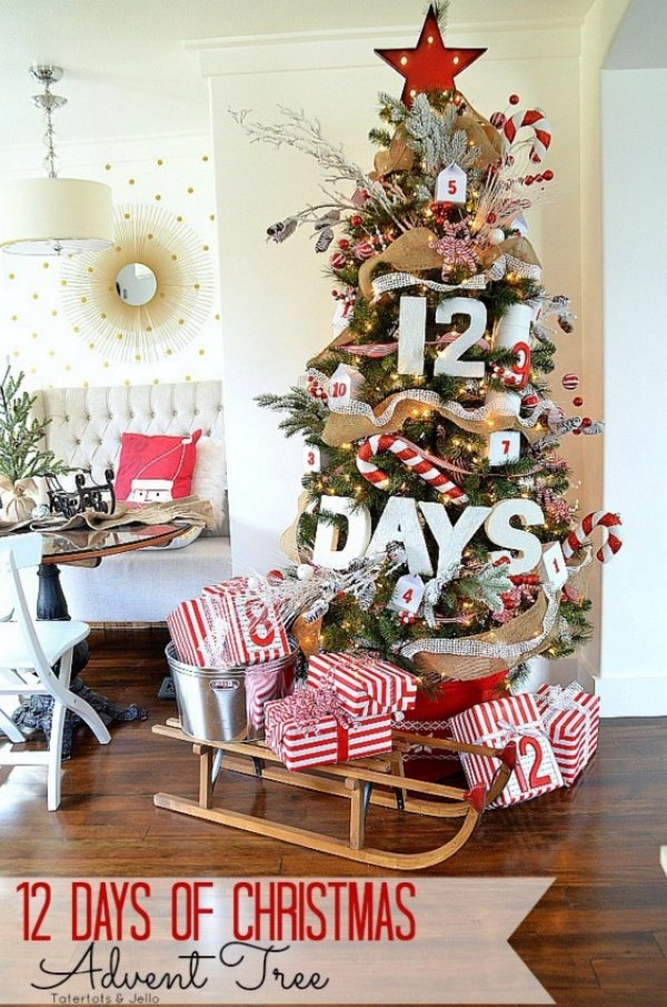 Ultimate 12 days of Christmas tree advent.