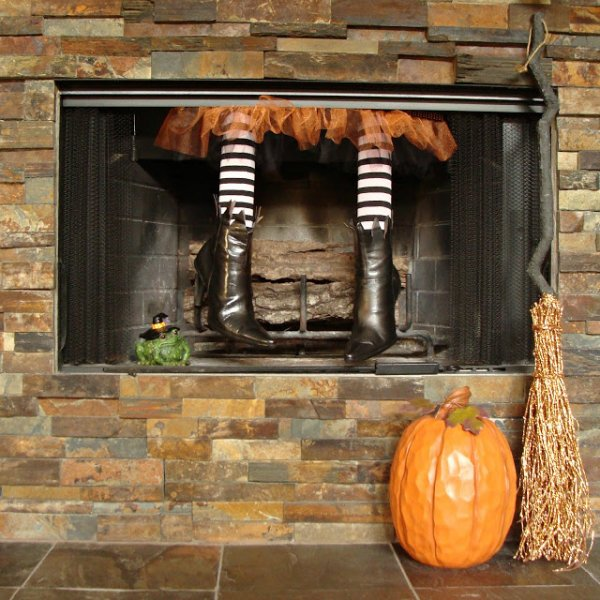 Witch in your fireplace.